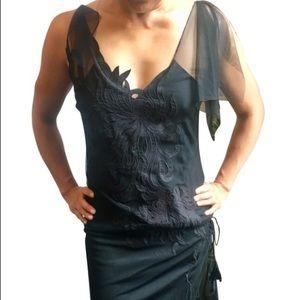 Vivienne Tam dragon mini dress